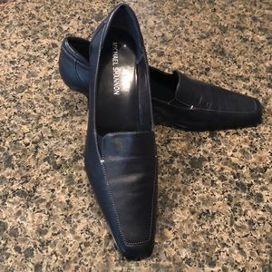Michael Shannon Navy Blue leather pump